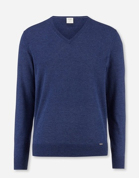 0151-10-19 Level Five Knitwear, body fit, Pullover V-neck