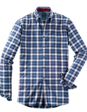 4072-64-39 Casual Modern Fit Large Check Shirt